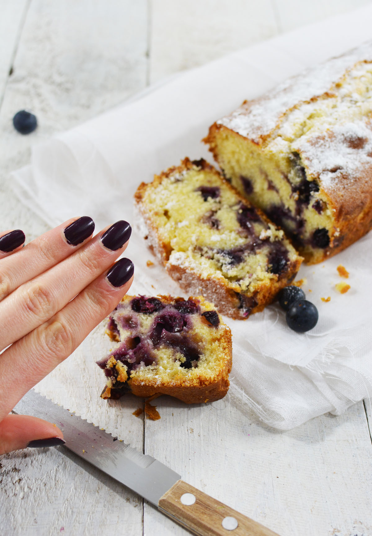 Blueberry yoghurt cake 8