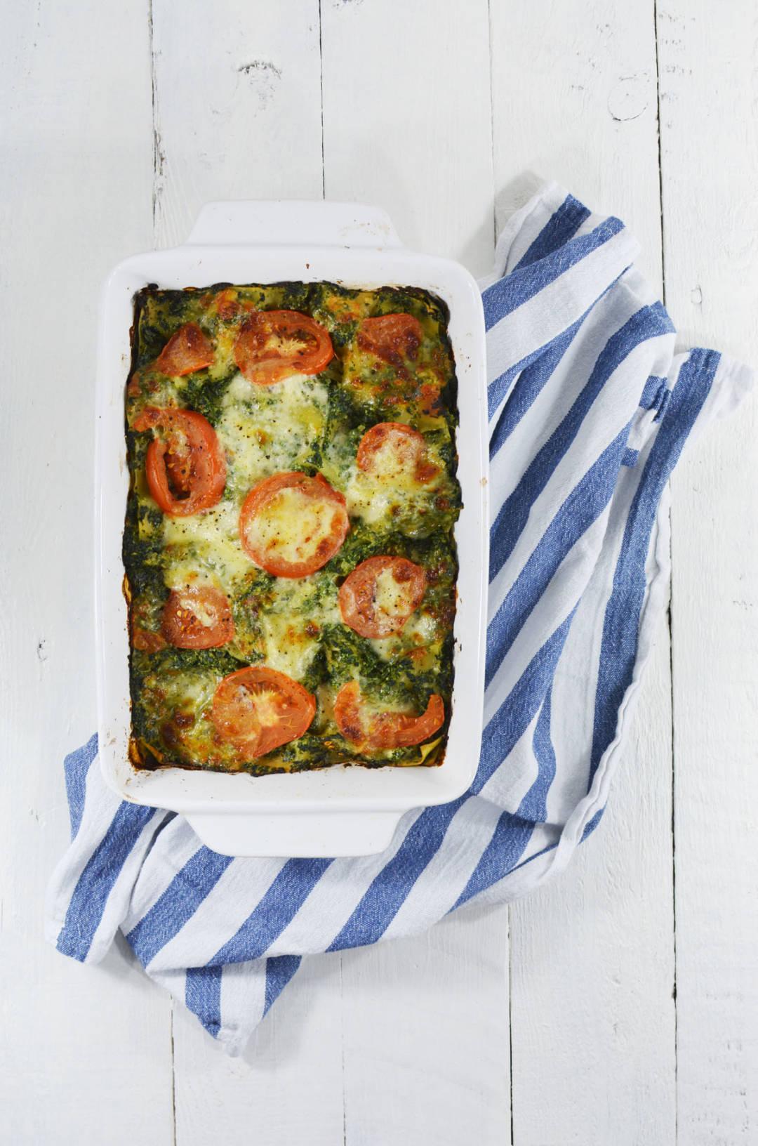 Lasagne met spinazie en ham 1