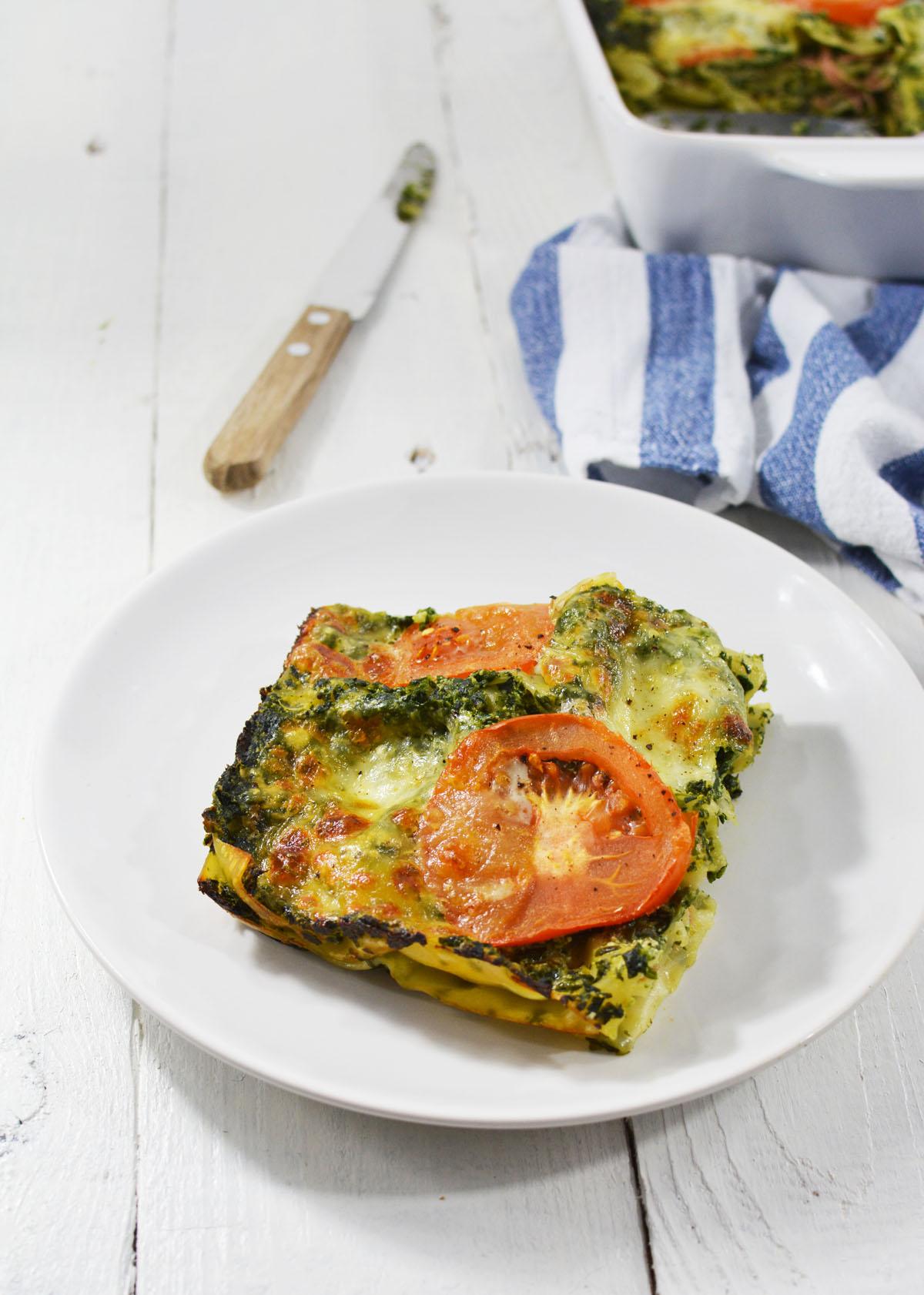 Lasagne met spinazie en ham 4
