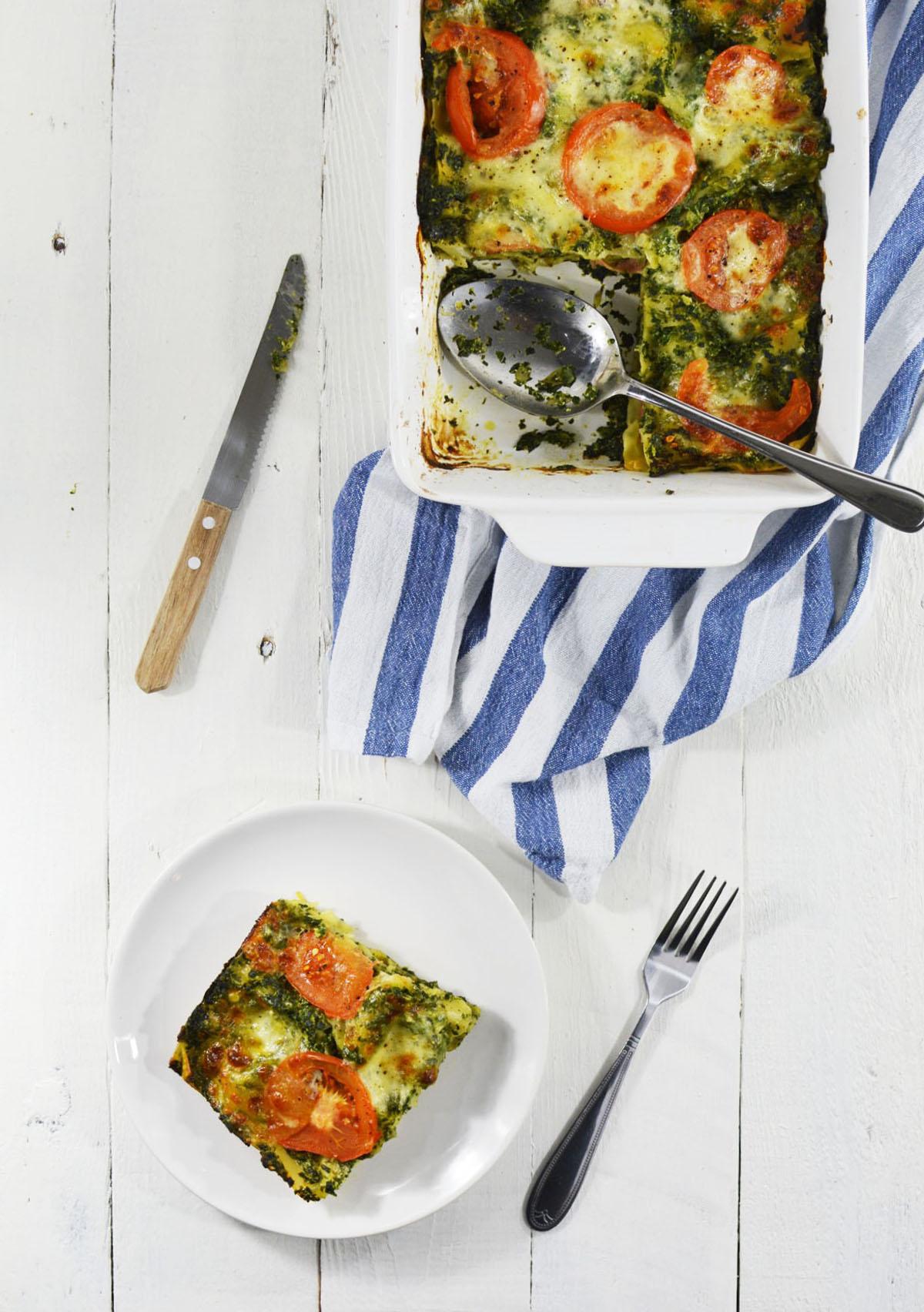 Lasagne met spinazie en ham 6