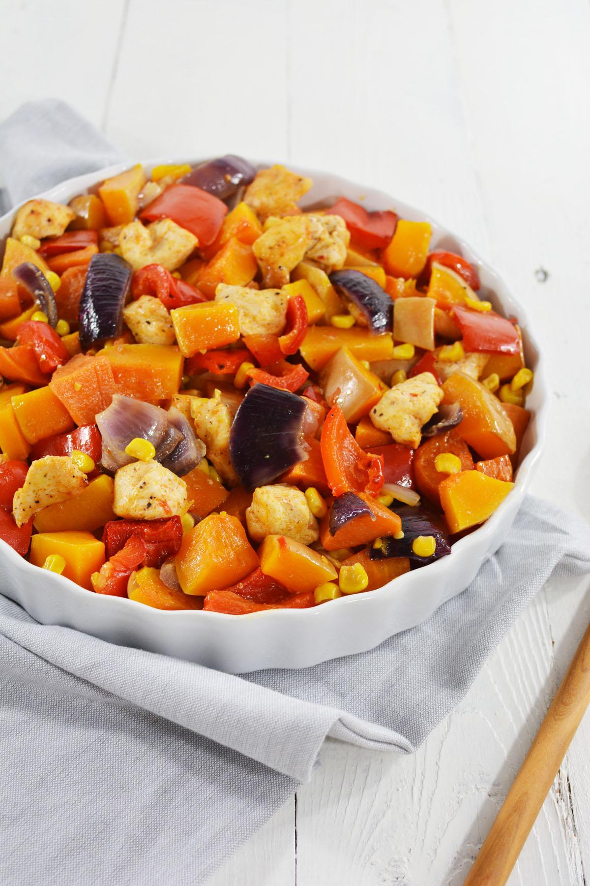 Sweet chili pompoen uit de oven 4