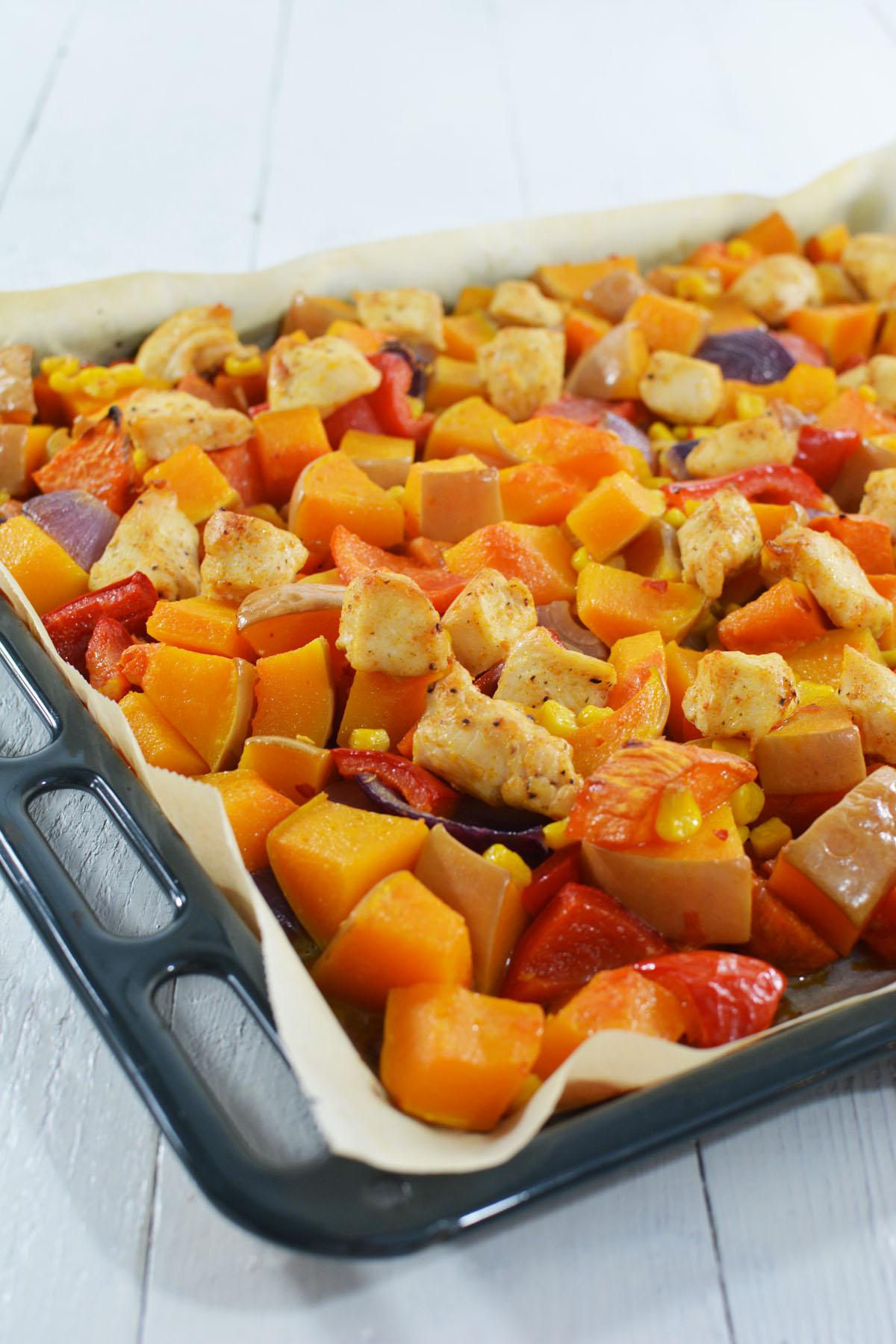 Sweet chili pompoen uit de oven 5