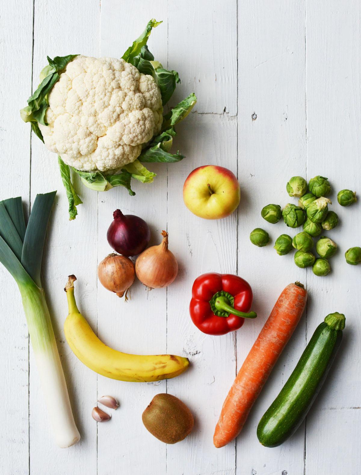 Schijf 1 - Groente en fruit