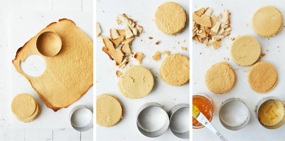 Oranje taartjes collage 1