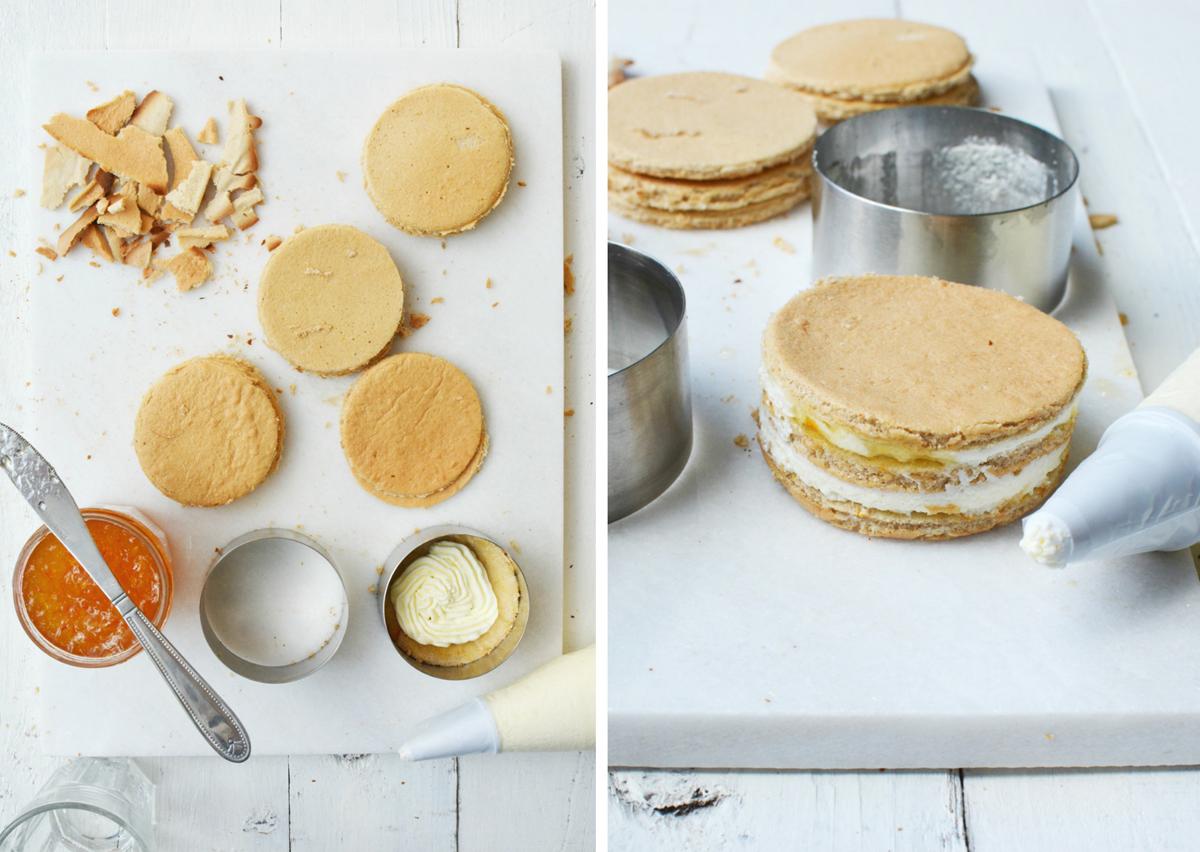 Oranje taartjes collage 2