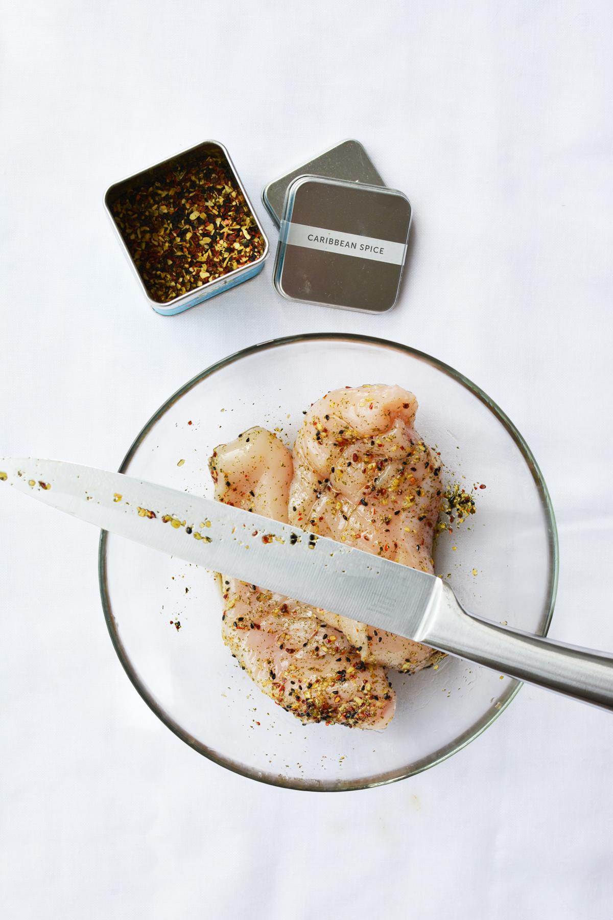 Gegrilde kip met Caribbean spice 15