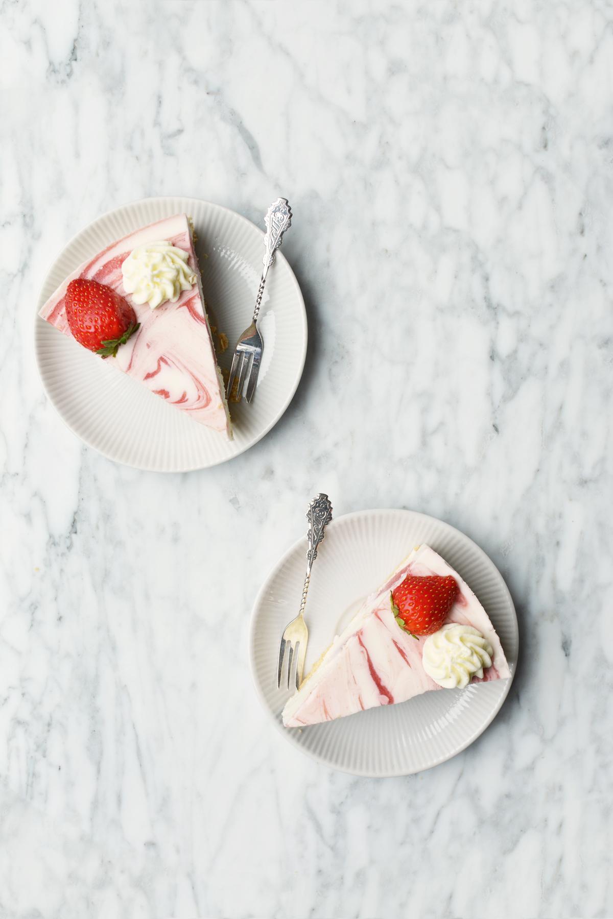 Aardbeien yoghurttaart 9.1.