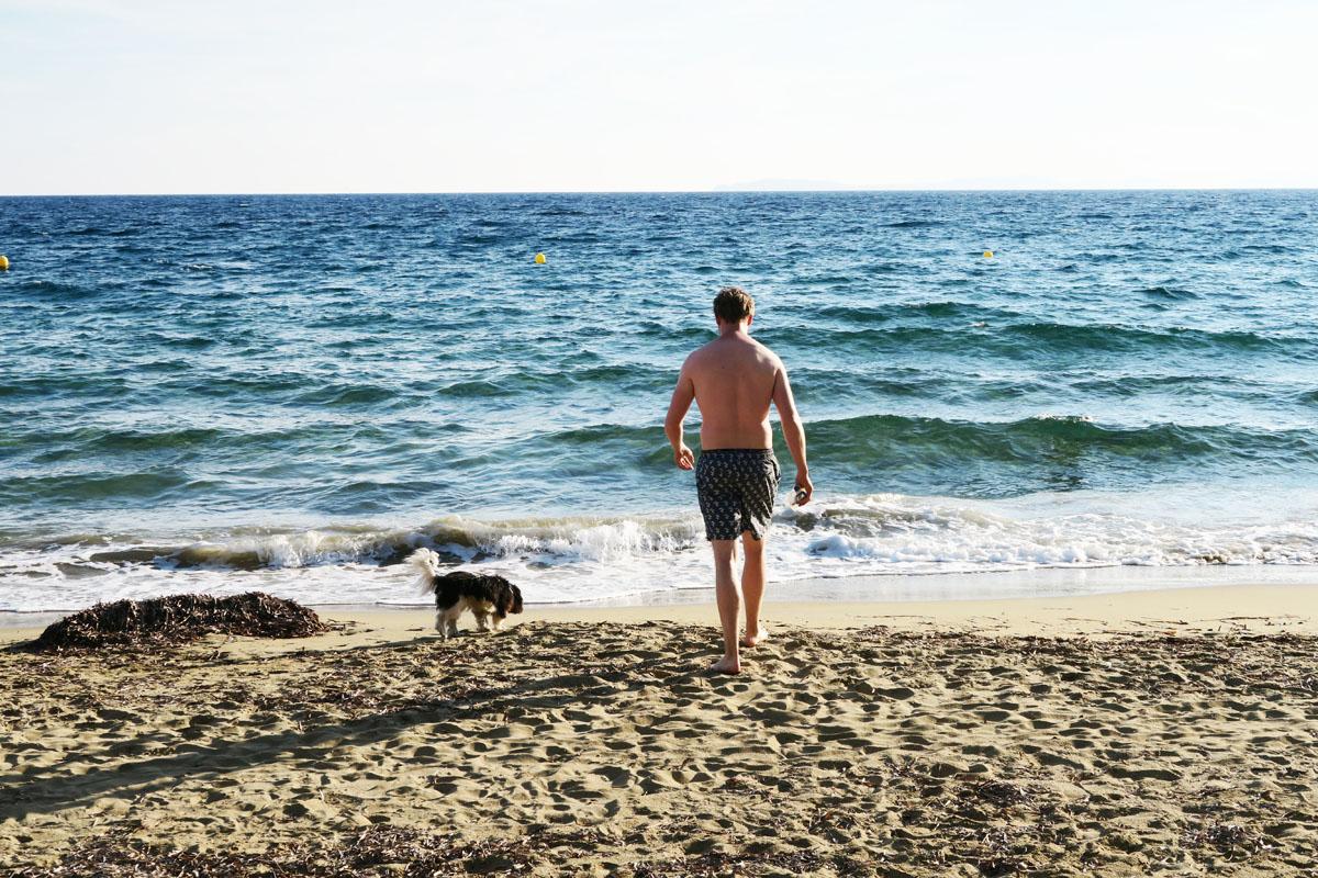 Hermie in zee met Jelm