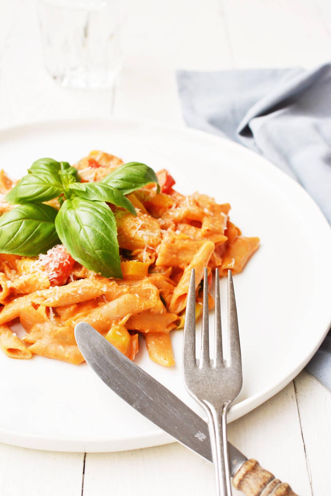 One pot pasta met kip en paprika 15 twee