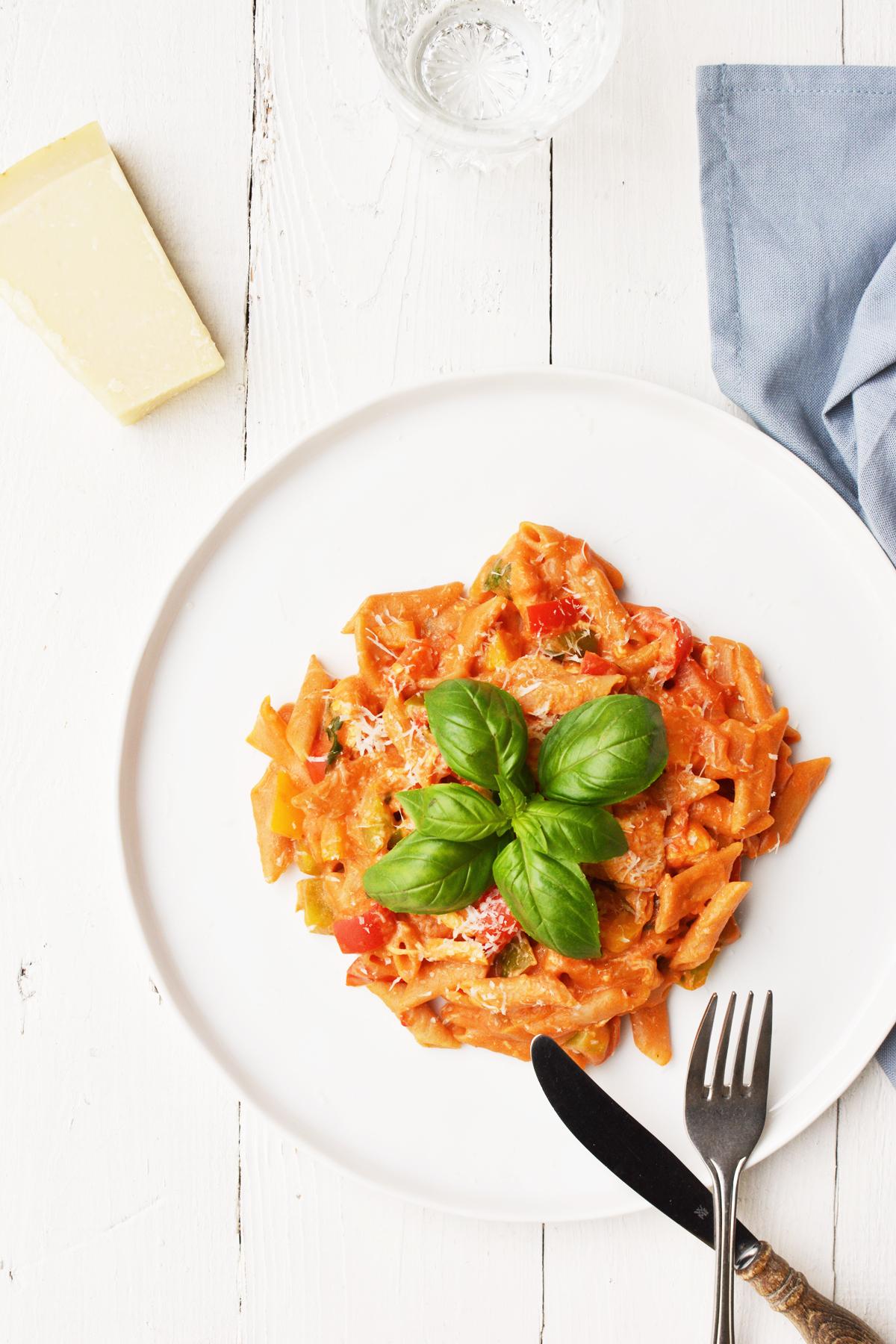 One pot pasta met kip en paprika 22