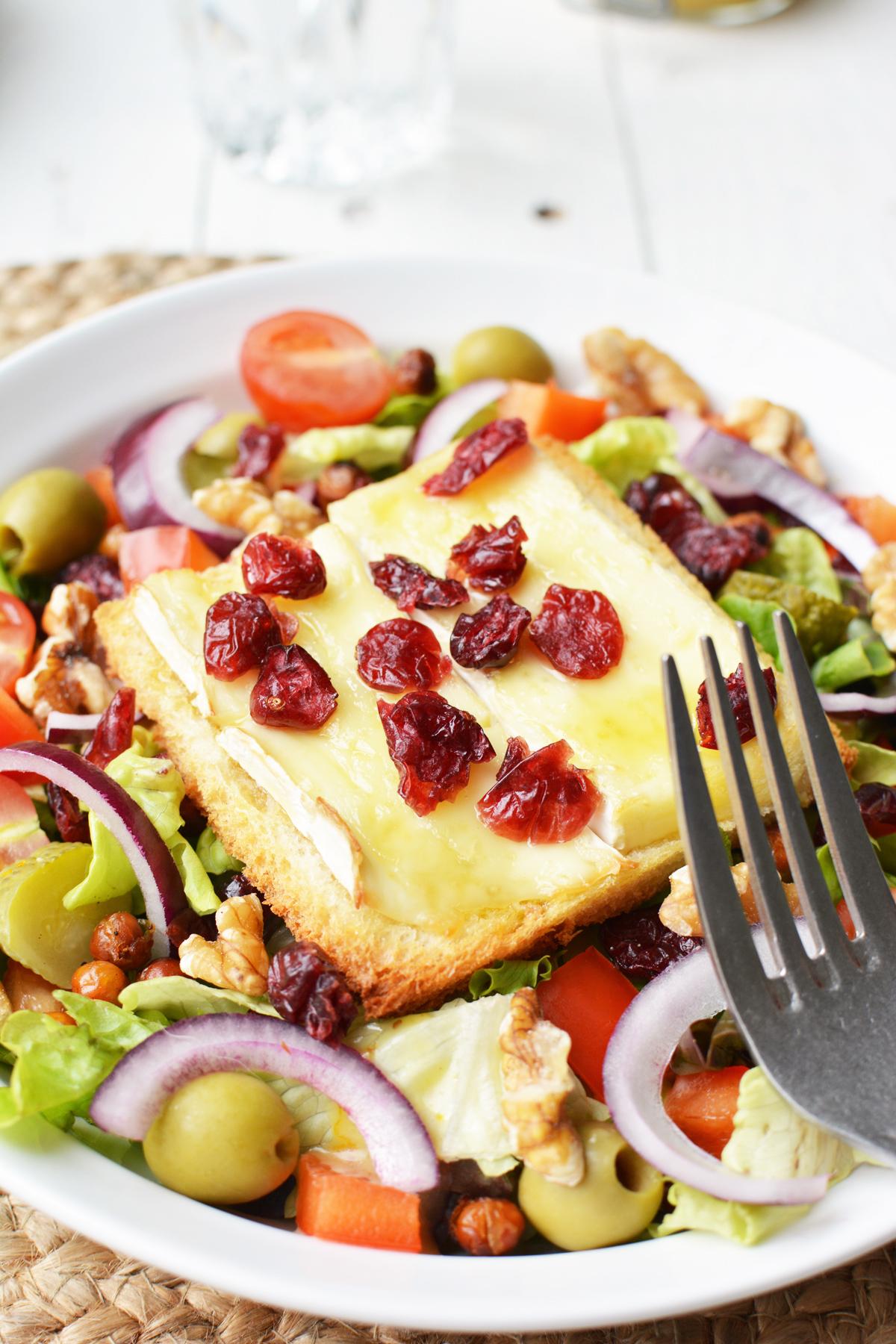 Salade met brie crouton 10