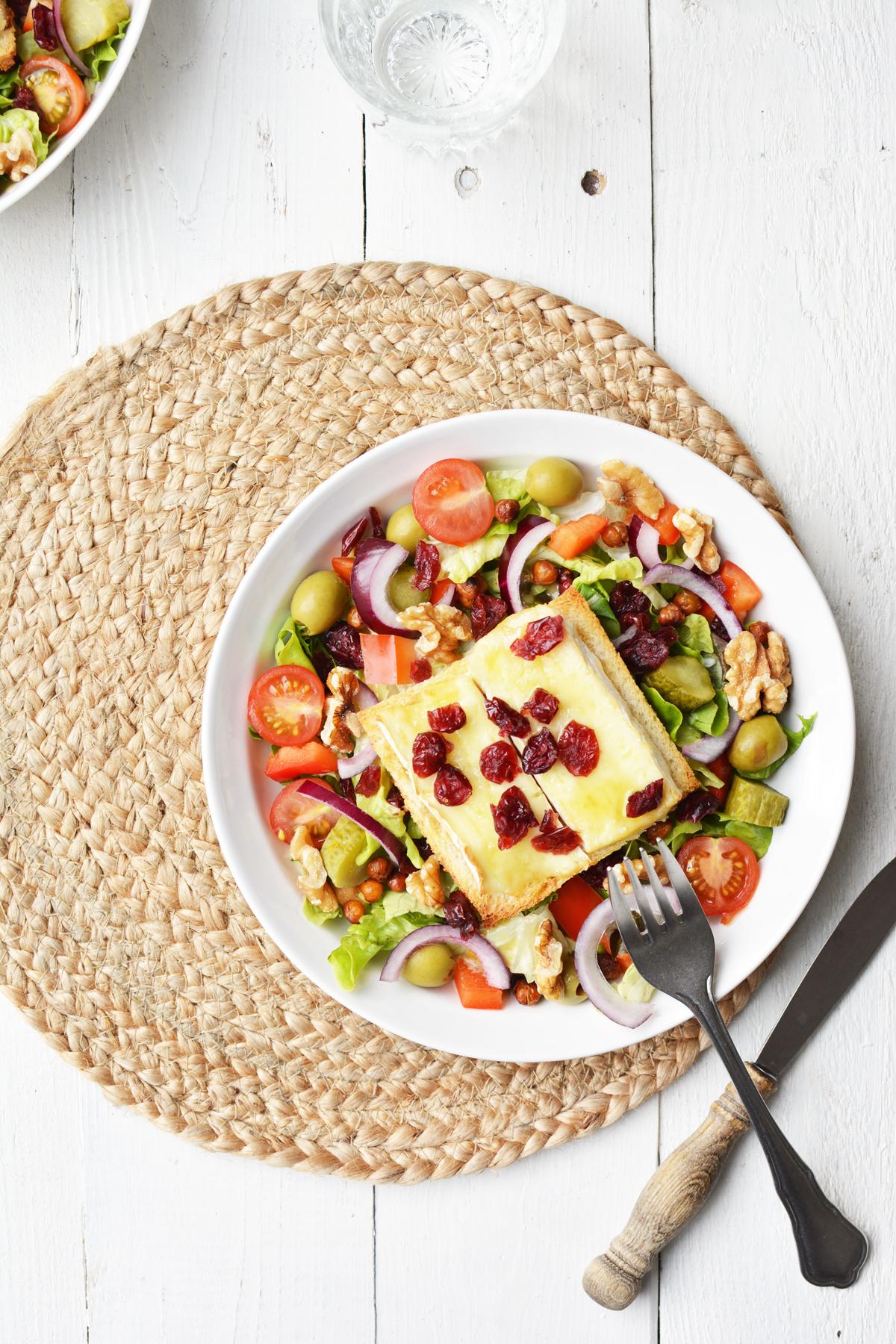 Salade met brie crouton 12