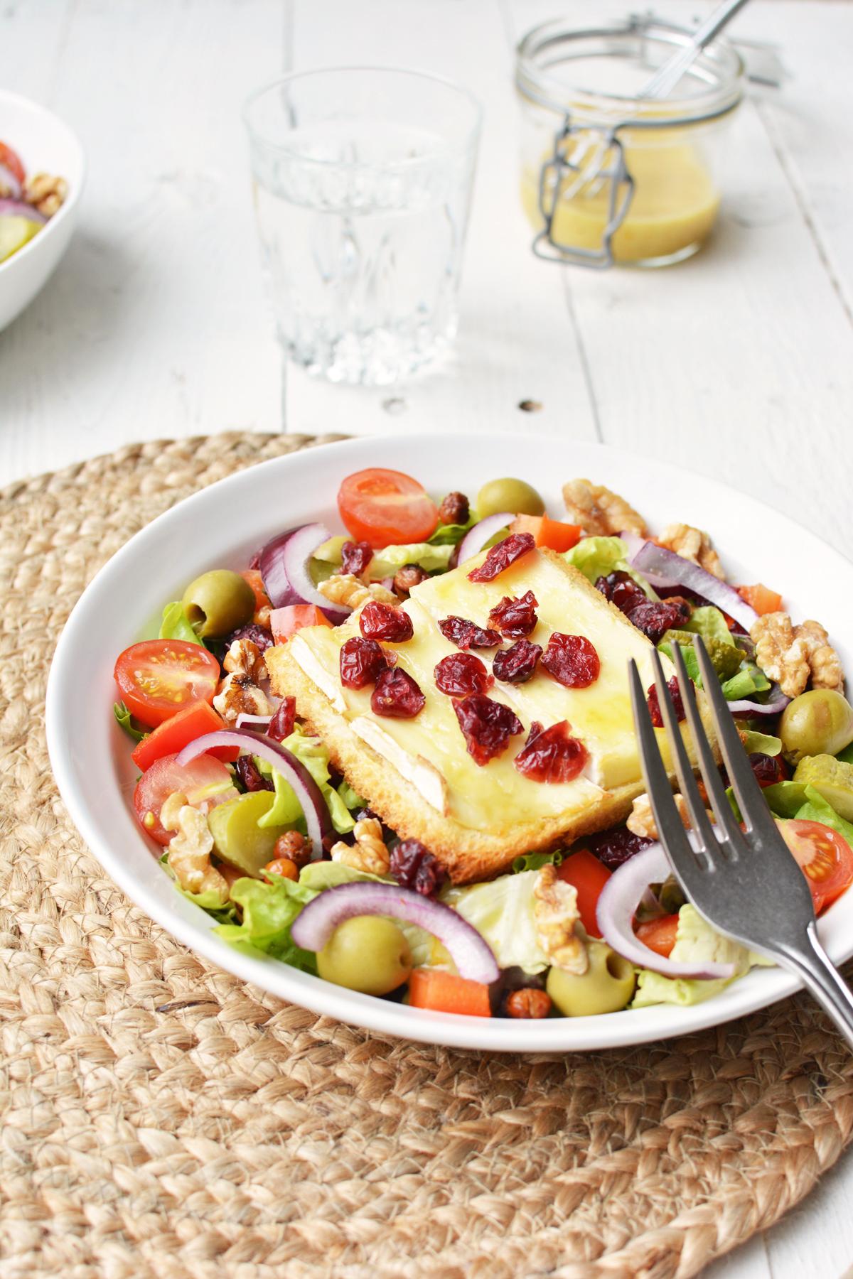 Salade met brie crouton 9 warmer
