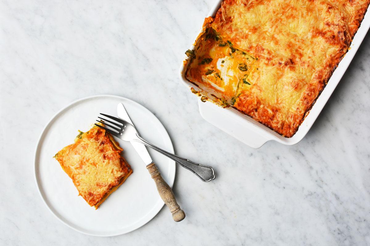 Lasagne met spinazie en zalm 13