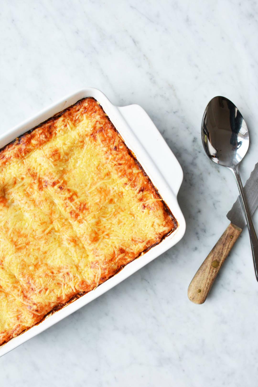 Lasagne met spinazie en zalm 3