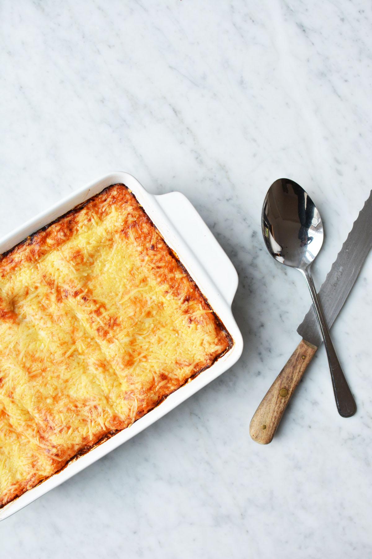 Lasagne met spinazie en zalm 4
