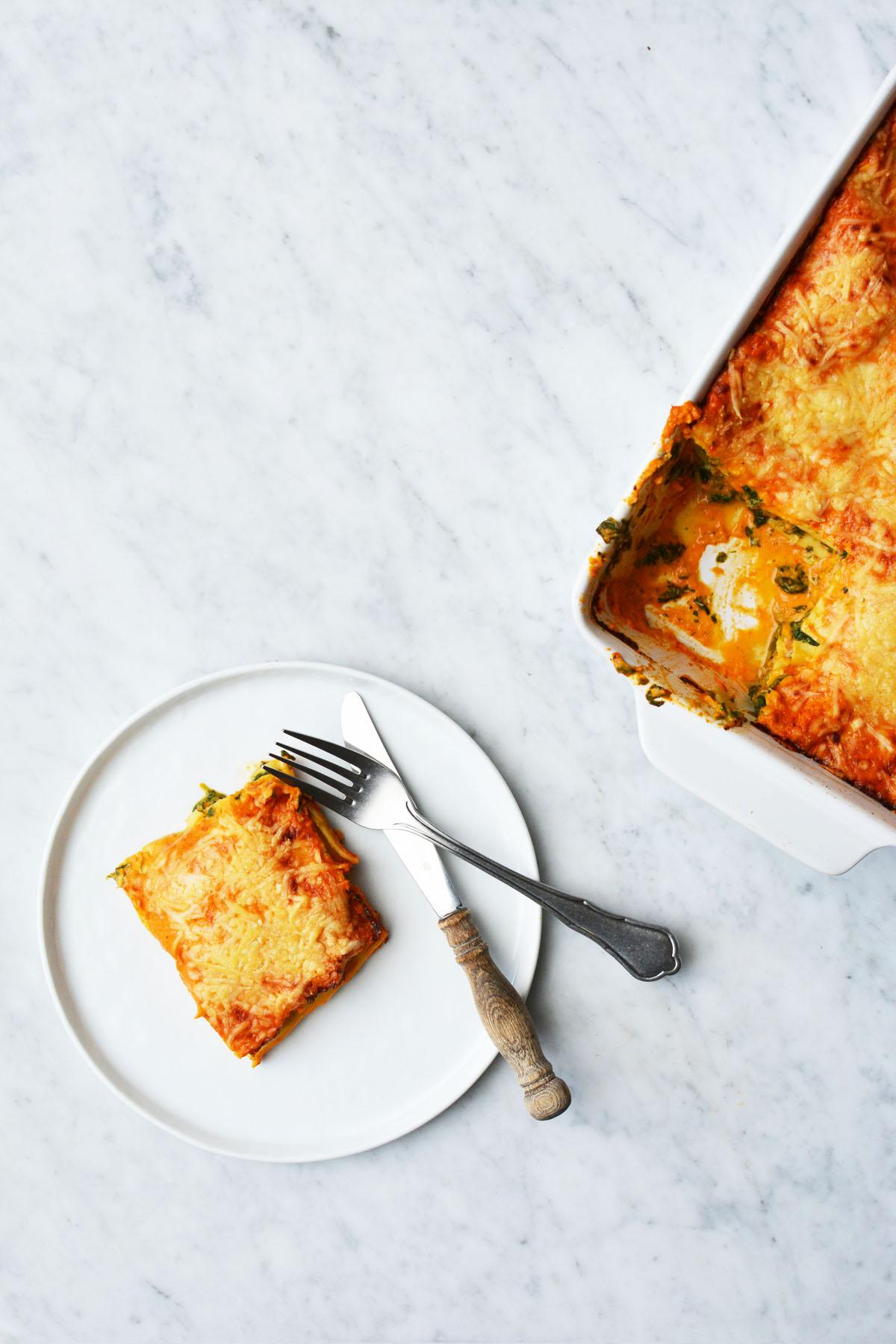 Lasagne met spinazie en zalm 5