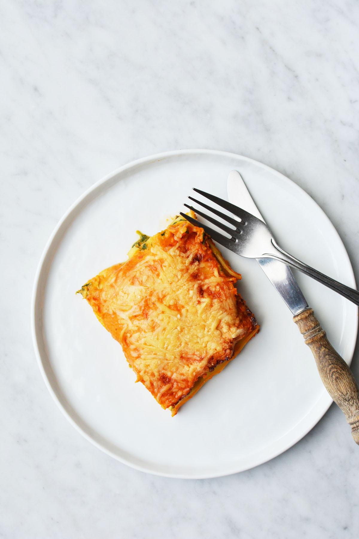 Lasagne met spinazie en zalm 7