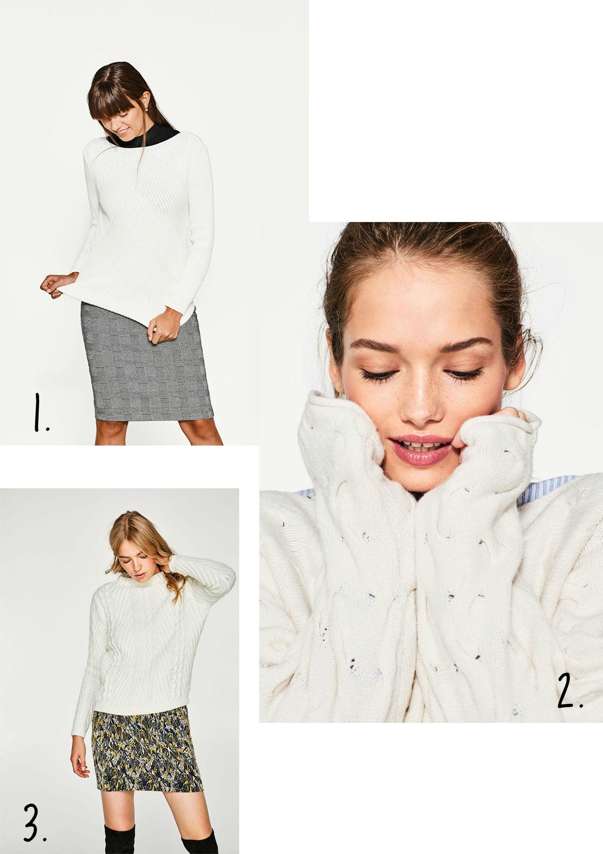 Collage witte truien met cijfers
