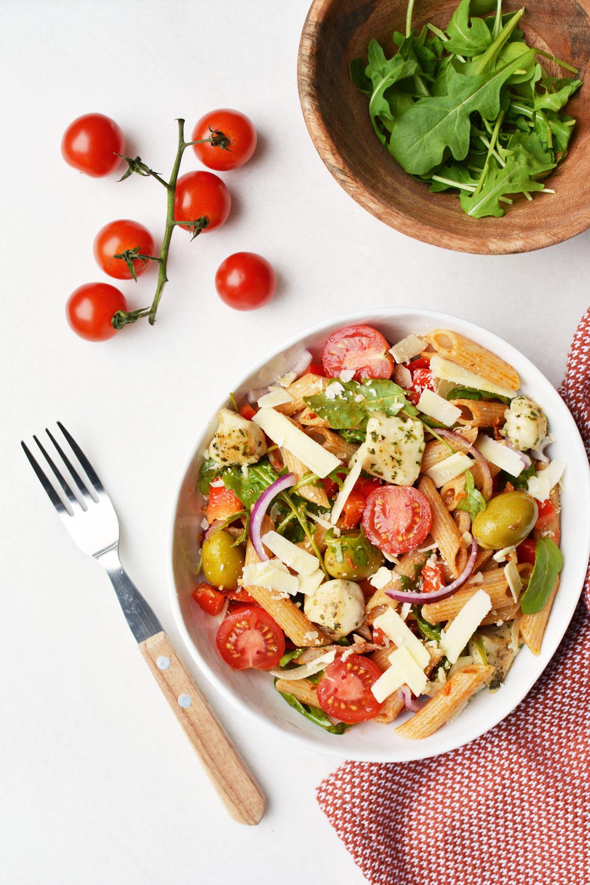 Pasta salade met rode pesto 14