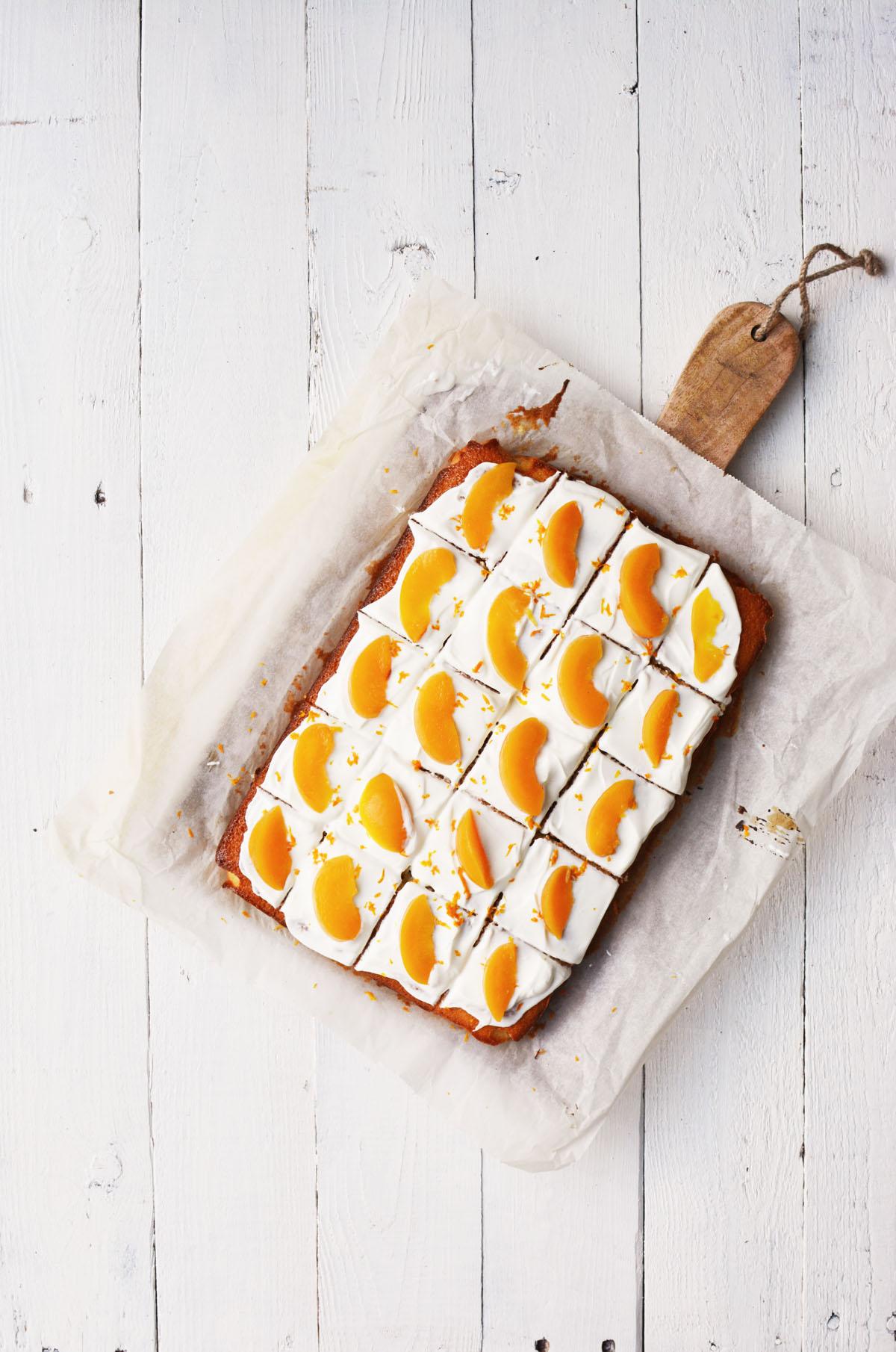 Perzik yoghurtcake met sinaasappel 1