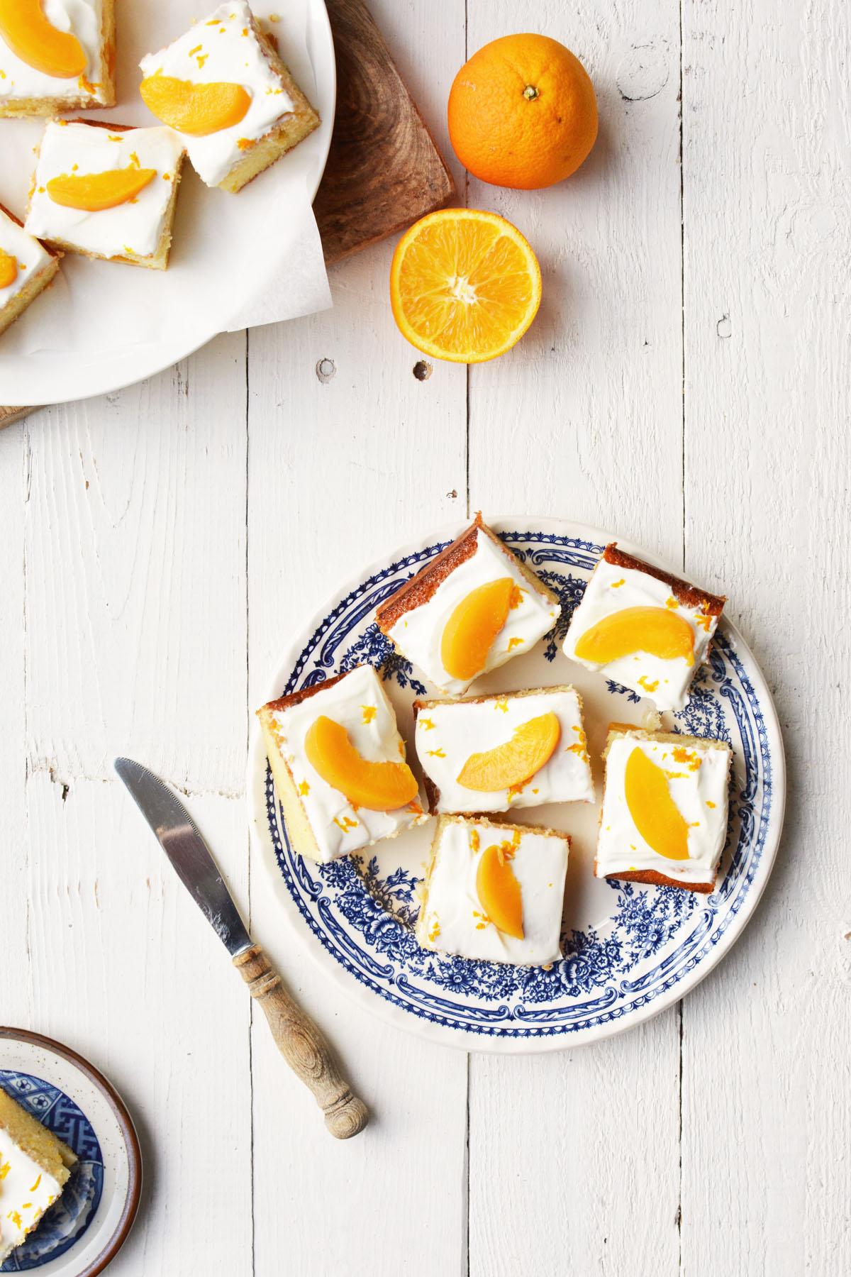 Perzik yoghurtcake met sinaasappel 11