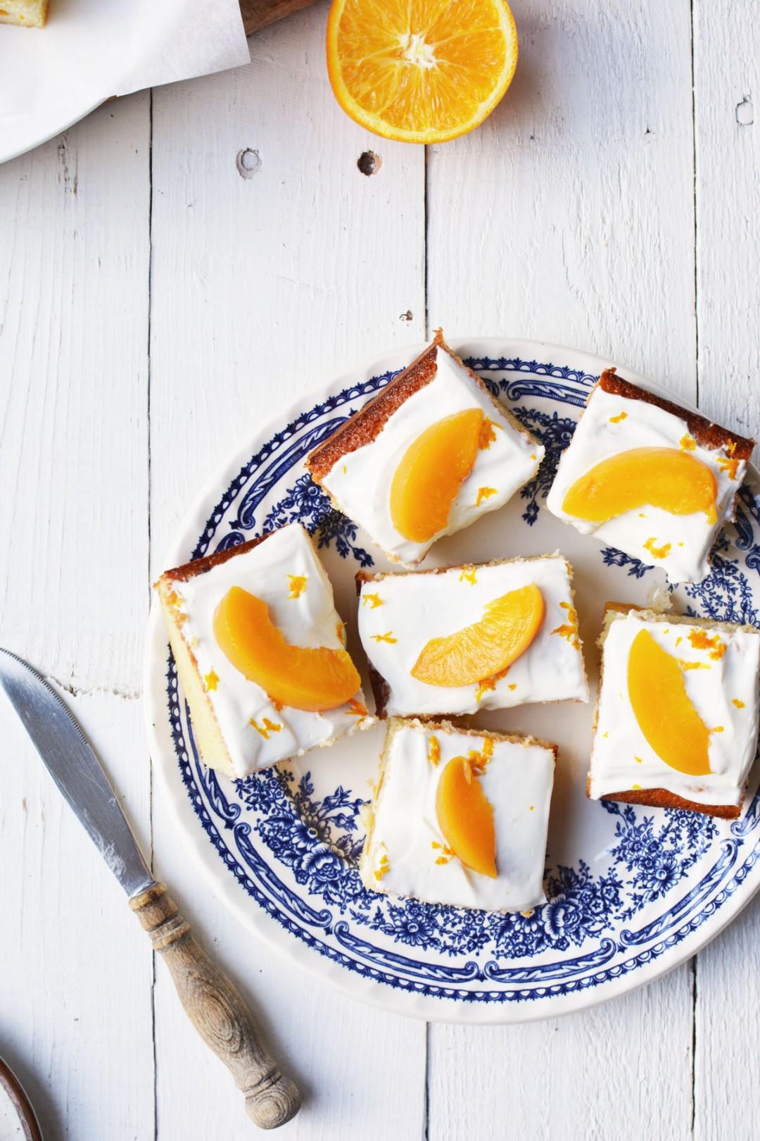 Perzik yoghurtcake met sinaasappel 16