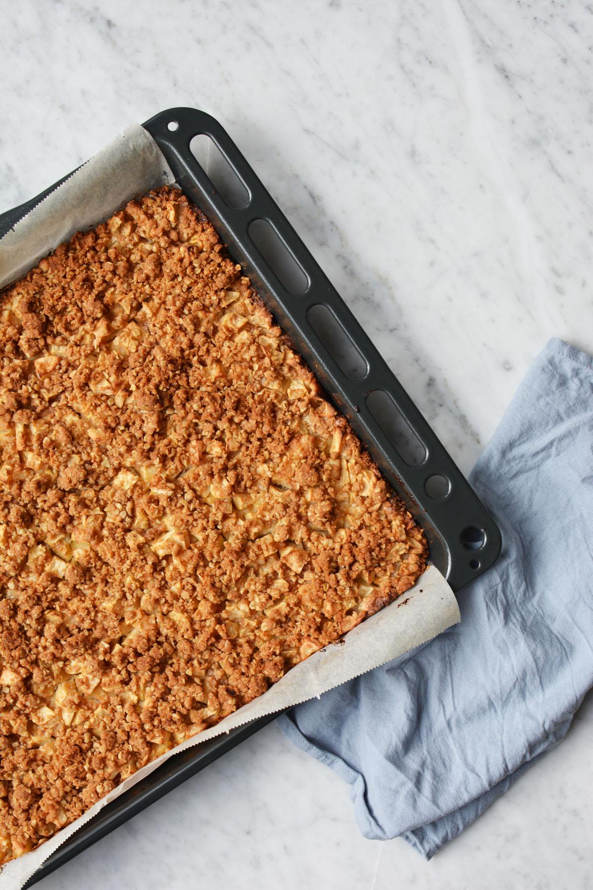 Speculaas appelplaatkoek met havermout en spijs 1