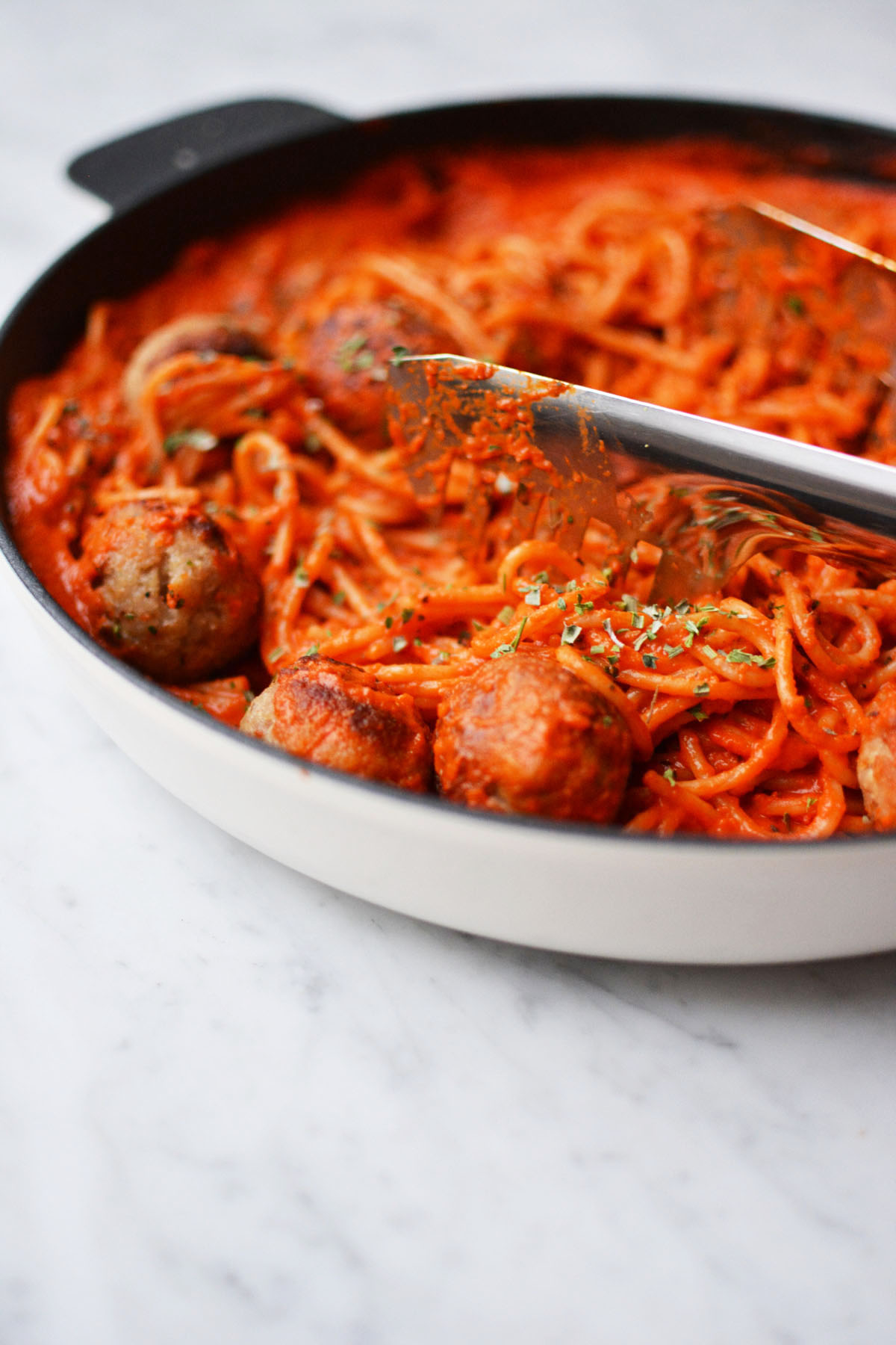 Spaghetti met geroosterde paprikasaus 44