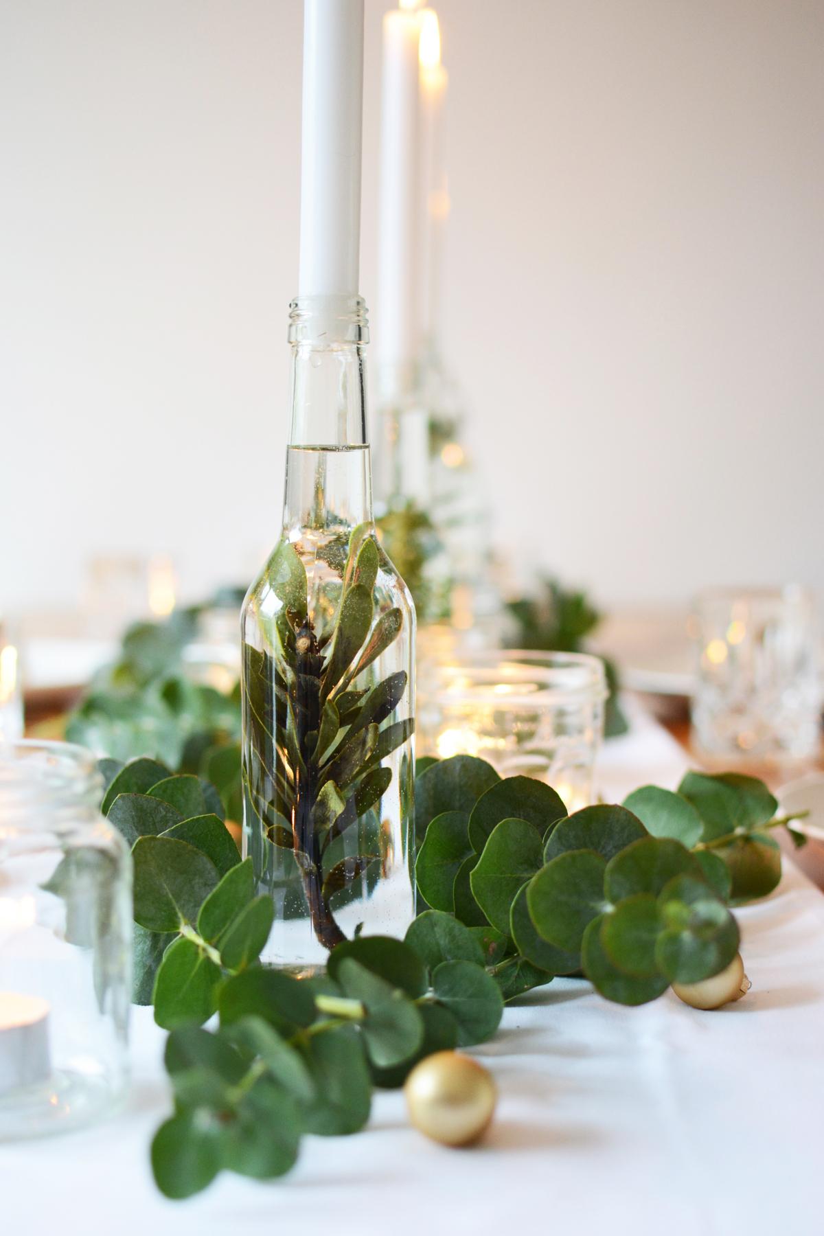 Kersttafel met eucalyptus 36