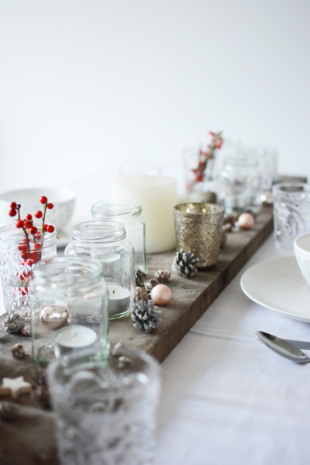 Witte kersttafel 55