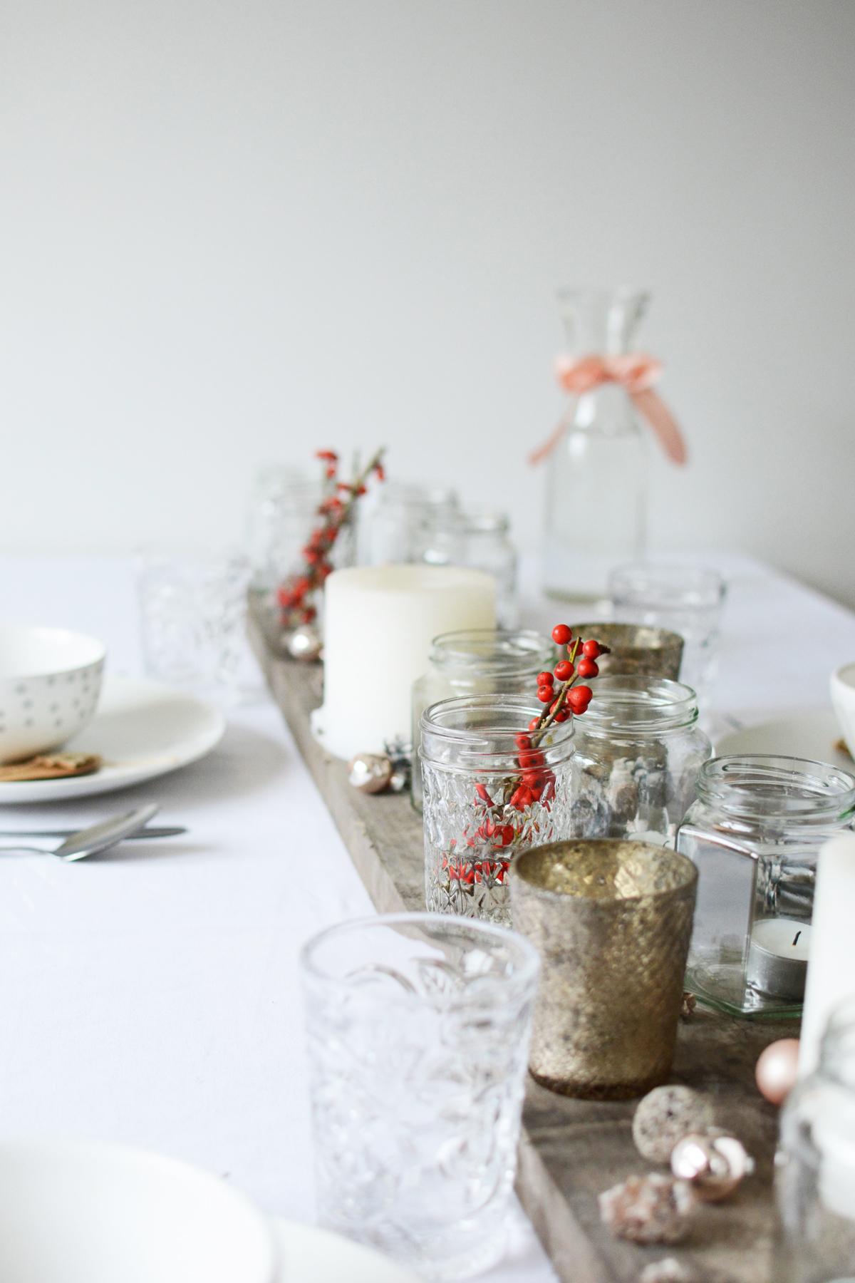Witte kersttafel 60