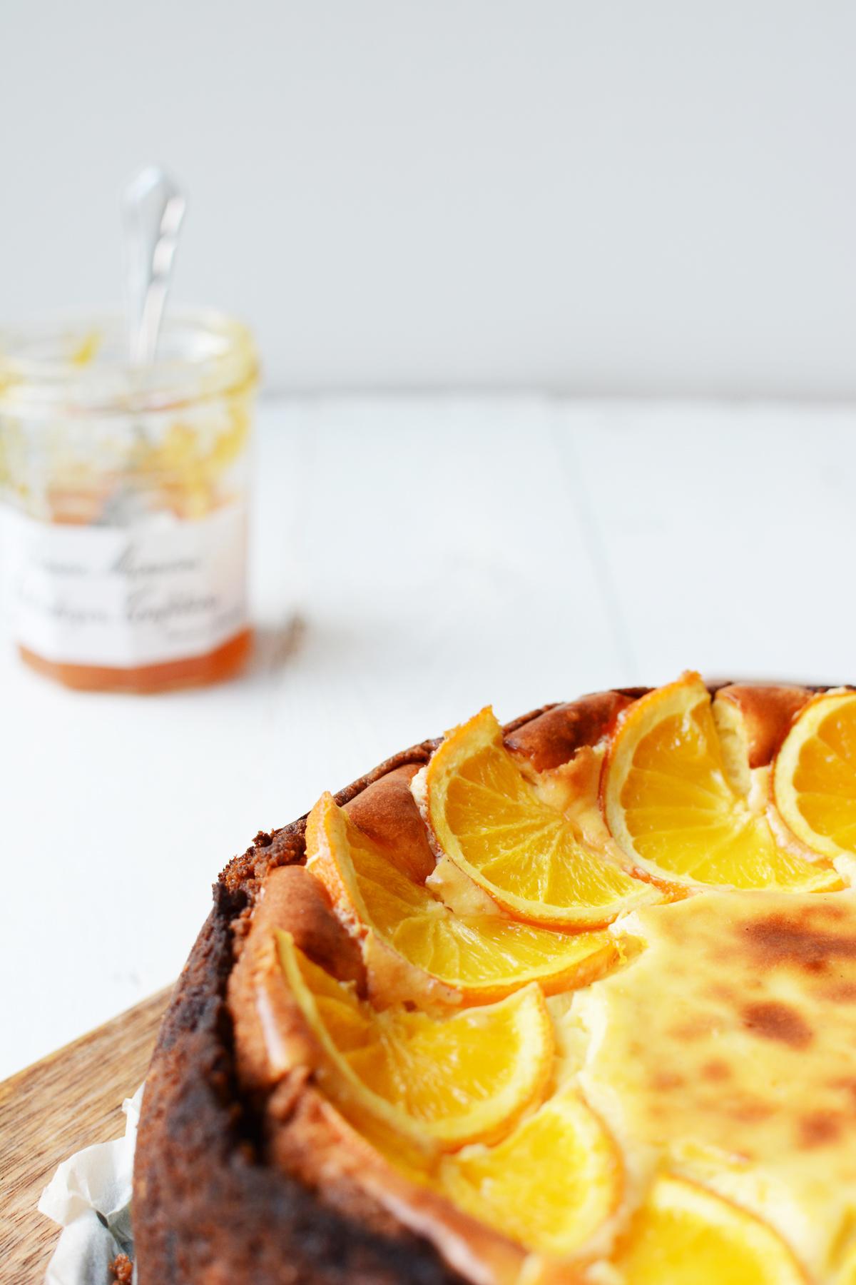 Sinaasappel cheesecake met speculaas 13