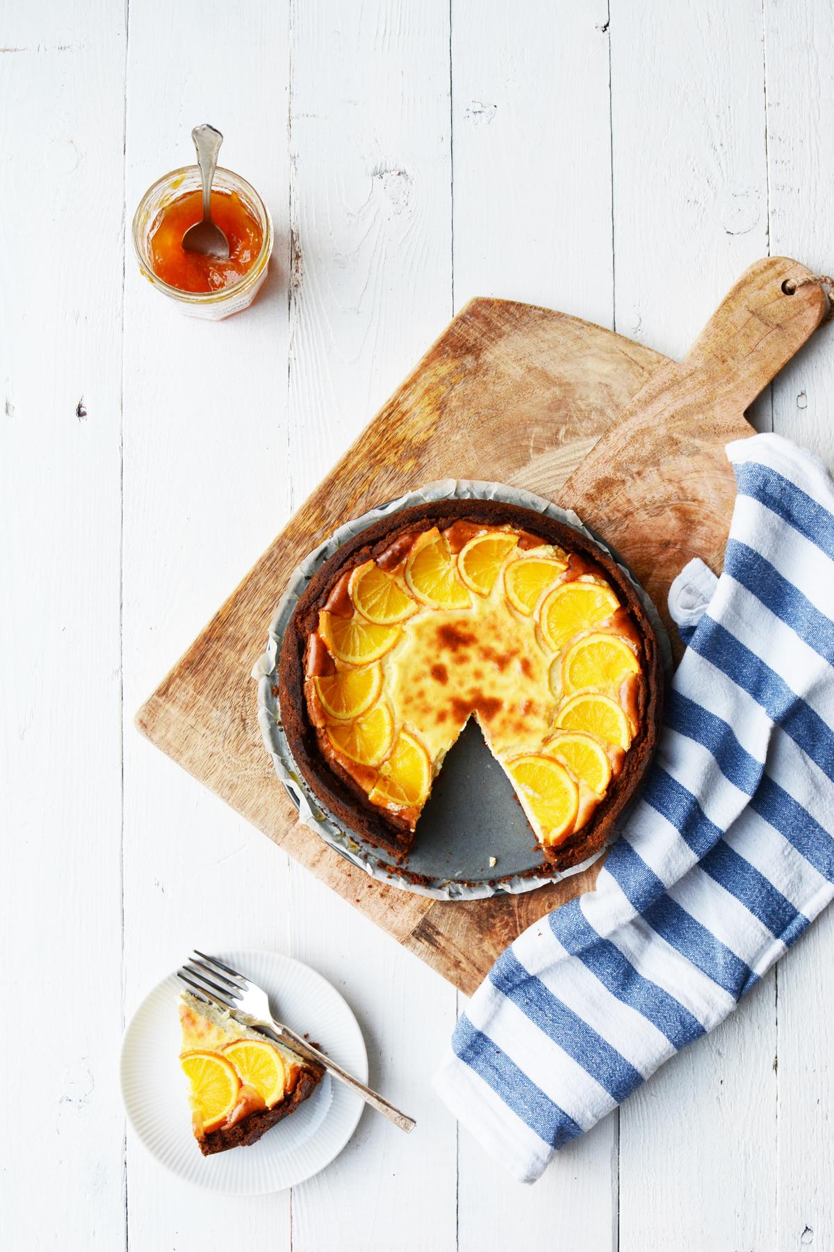Sinaasappel cheesecake met speculaas 18
