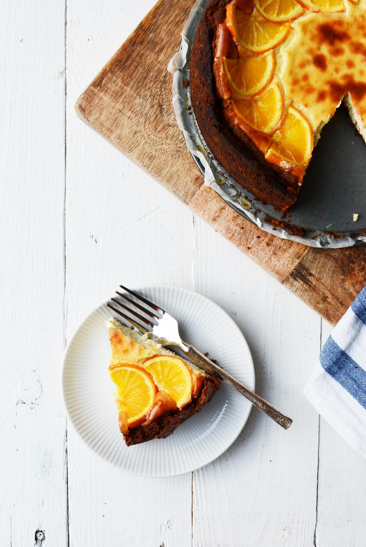 Sinaasappel cheesecake met speculaas 19