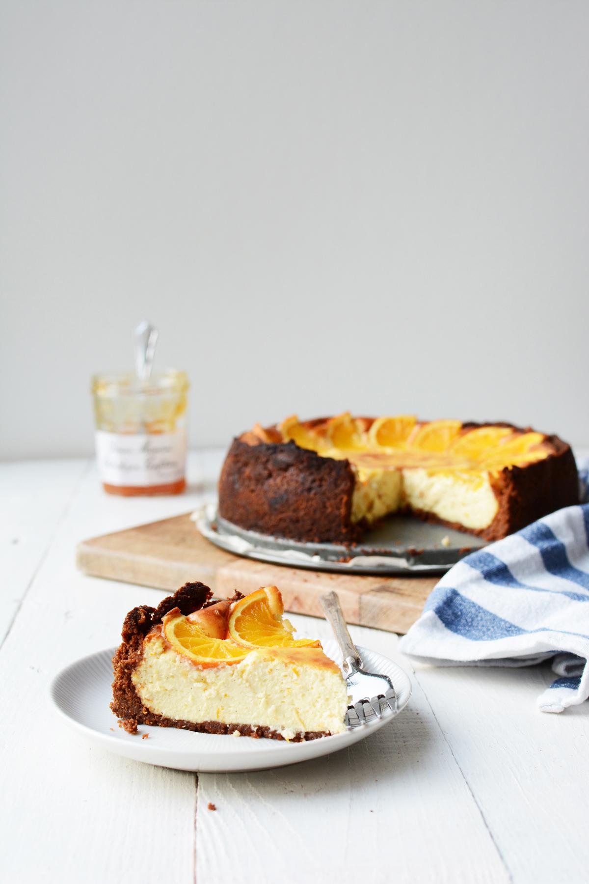Sinaasappel cheesecake met speculaas 24