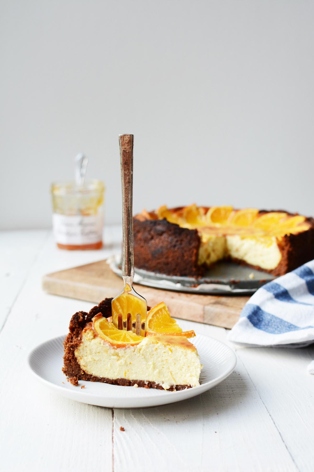 Sinaasappel cheesecake met speculaas 33