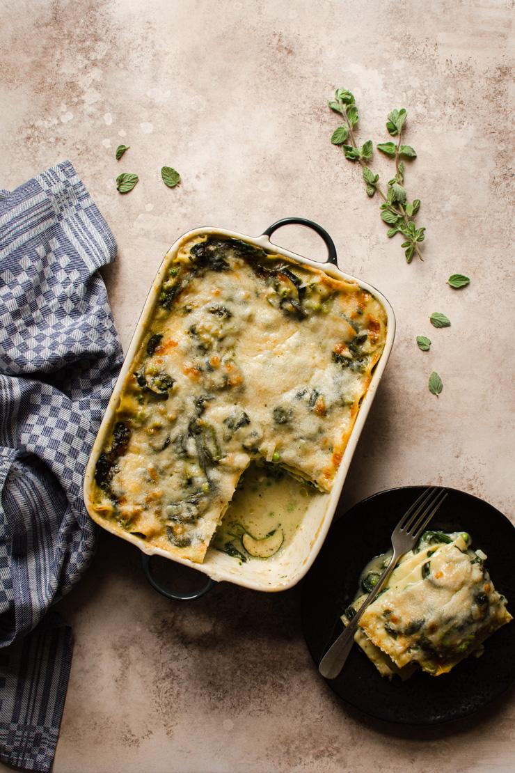 Groentelasagne met spinazie en courgette